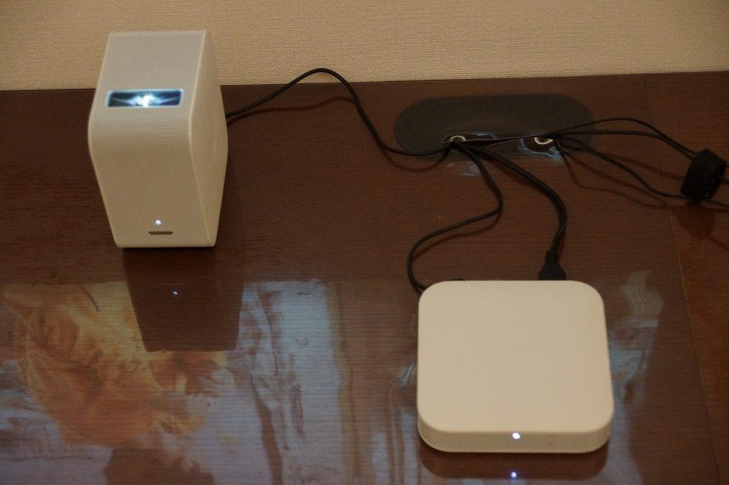 ブルーレイレコーダーをSONY LSPX-P1に繋ぎテレビを映す