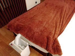 日立 アッとドライ布団乾燥機で毛布を乾燥させる