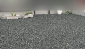 砂利の庭に人工芝を引く!